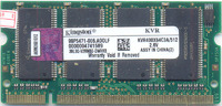 DDR 512MB PC3200 Kingston 400MHz sodimm