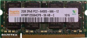 sodimm DDR2 2gb 2RX8 PC2-6400S 666 Hynix 800 Mhz HYMP125S64CP8-S6300x300