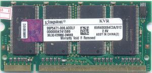 DDR 512MB PC3200 Kingston 400MHz sodimm300x300