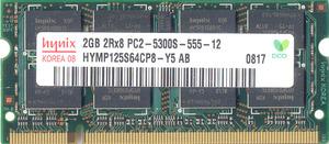 sodimm DDR2 2gb 2RX8 PC2-5300S 555 Hynix 667 Mhz HYMP125S64CP8-Y5300x300